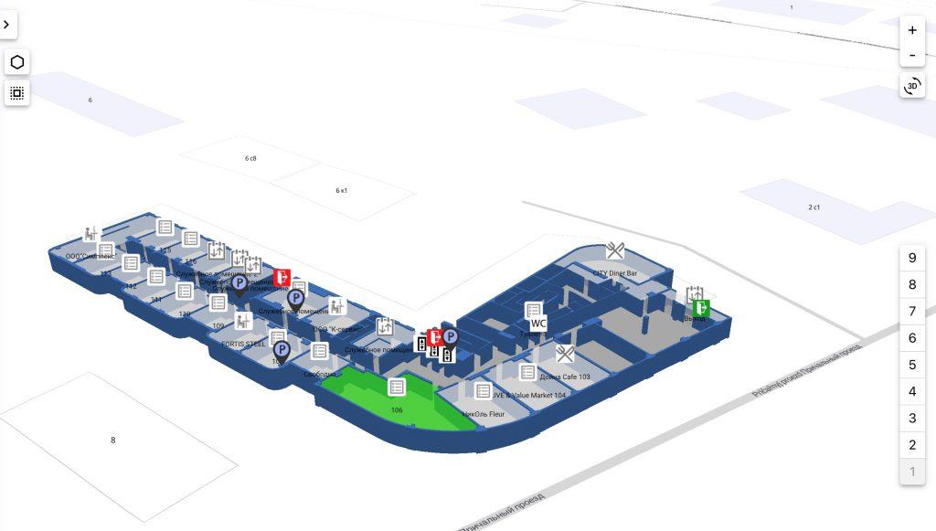 Технология навигации внутри помещений для розничной торговли