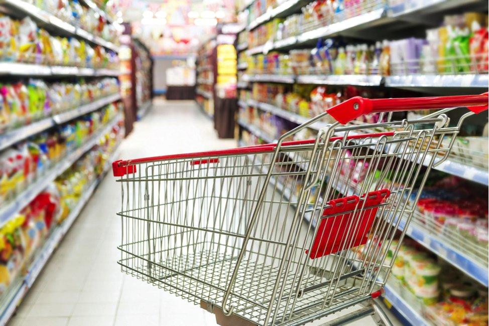 Контроль тележек в гипермаркете